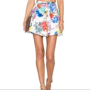Lovers + Friends Mini Skirt, Floral A Line NWOT